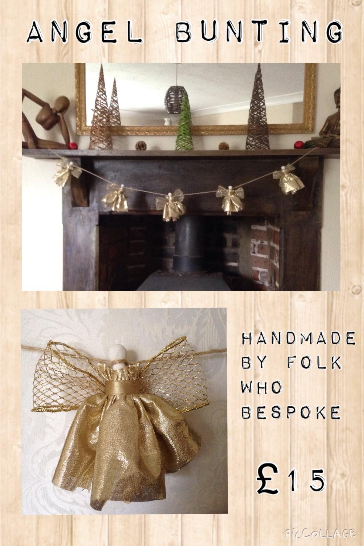 Handmade Angel Bunting