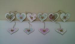 Handmade shabby Chic Hearts
