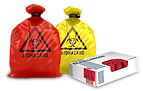 Red and Yellow Medical Waste Bags and Box Liners