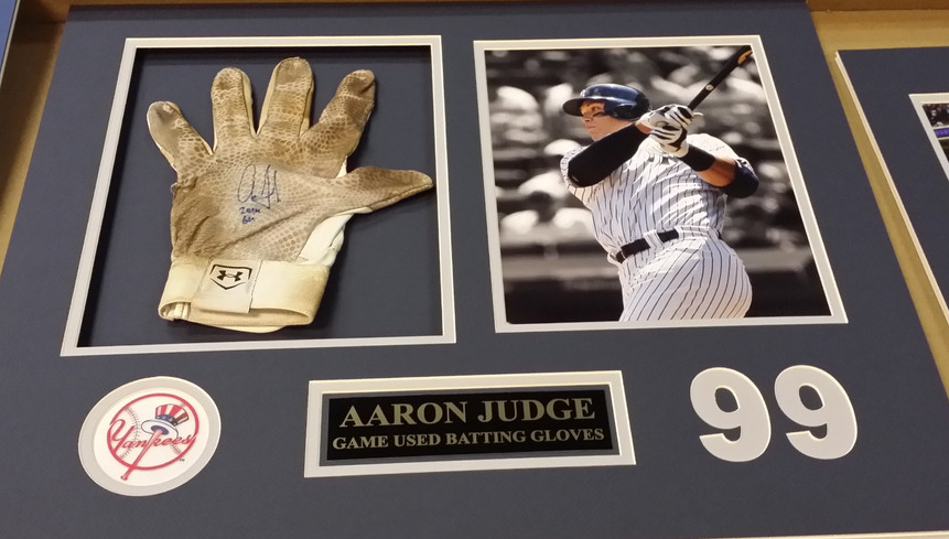 Aaron Judge Game Worn Gloves