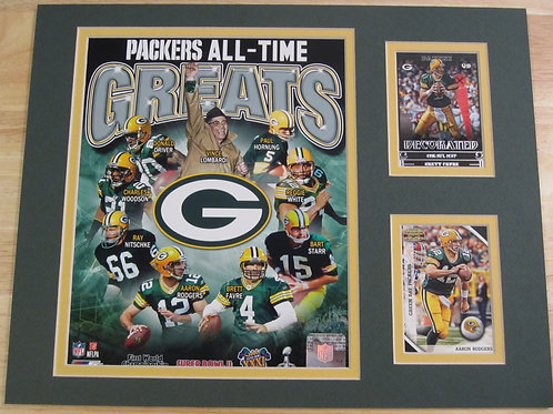 Green Bay Packers All-Time Greats Matted Photo