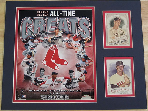 Boston Red Sox All-Time Greats Matted Photo