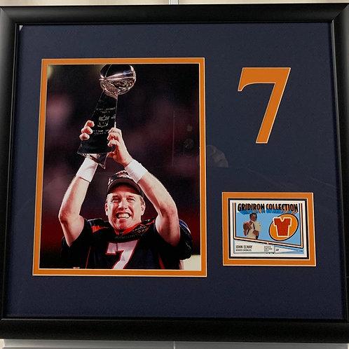 Denver Broncos John Elway Game Used Jersey Card
