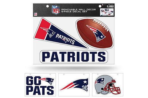 New England Patriots 6 pack Wall Decals