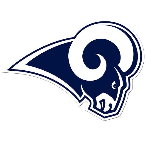 "Los Angeles Rams 8"" Logo Magnet"