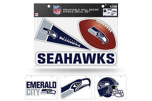 Seattle Seahawks 6 pack Wall Decals