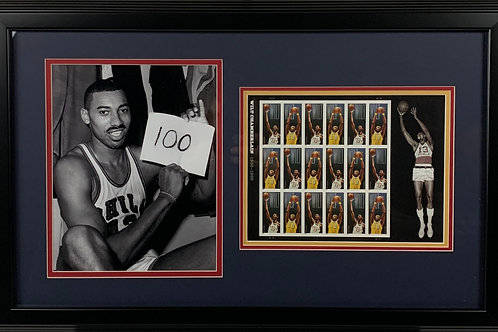 Los Angeles Lakers Wilt Chamberlain 100 Point Game with Sheet of Forever Stamps