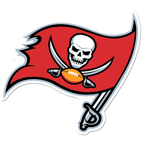 """Tampa Bay Buccaneers 8"""" Auto Decal"""