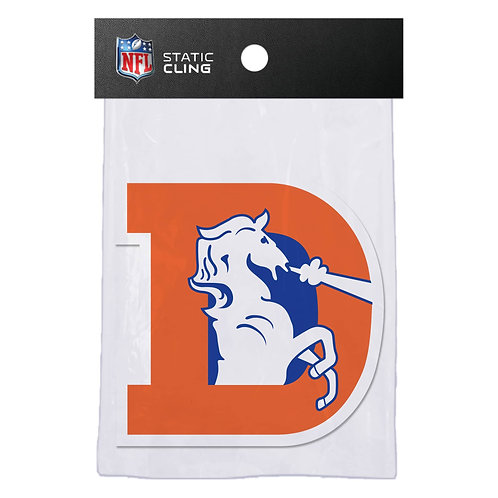 Denver Broncos Retro Static Cling