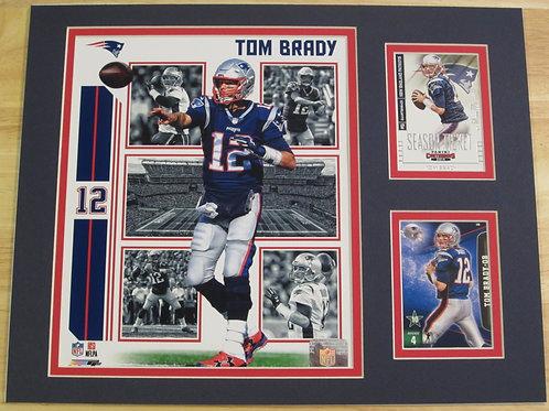 Tom Brady Matted Photo