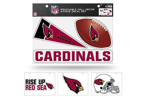 Arizona Cardinals 6 pack Wall Decals