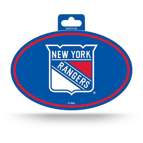 New York Rangers Oval Sticker