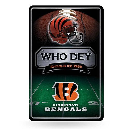 Cincinnati Bengals Metal Sign