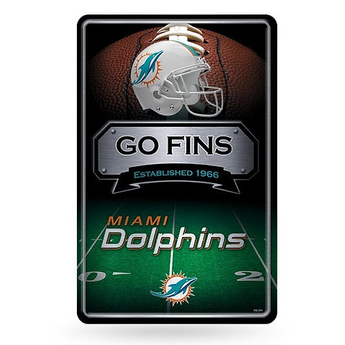 Miami Dolphins Metal Sign