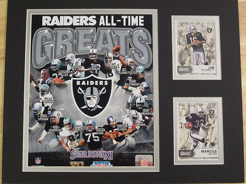 Oakland (Las Vegas) Raiders All-Time Greats Matted Photo