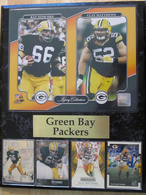 Green Bay Packers LB Legacy Plaque