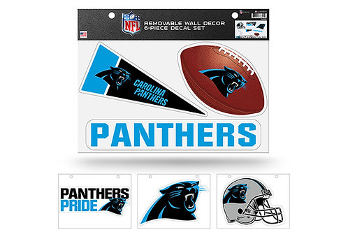 Carolina Panthers 6 pack Wall Decals