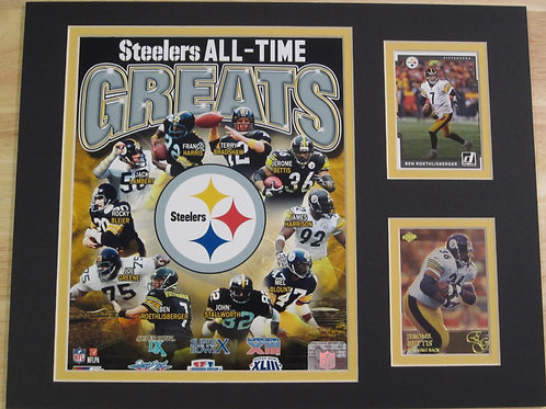 Pittsburgh Steelers All-Time Greats Matted Photo