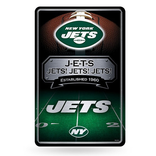 New York Jets Metal Sign