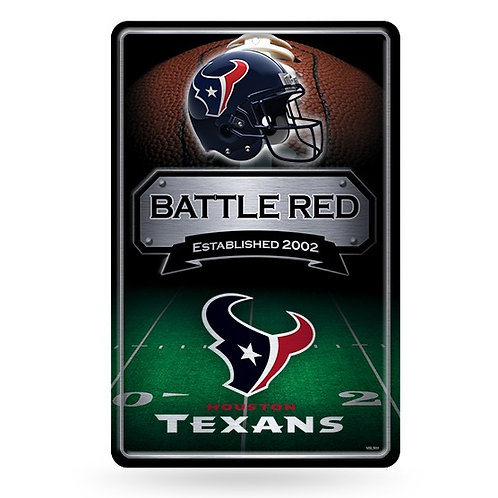 Houston Texans Metal Sign