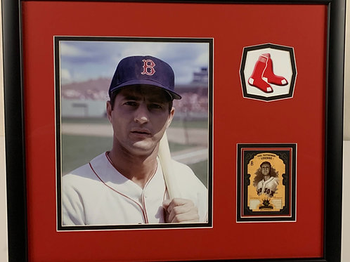 Boston Red Sox Carl Yastrzemski Game Used Bat & Jersey Card