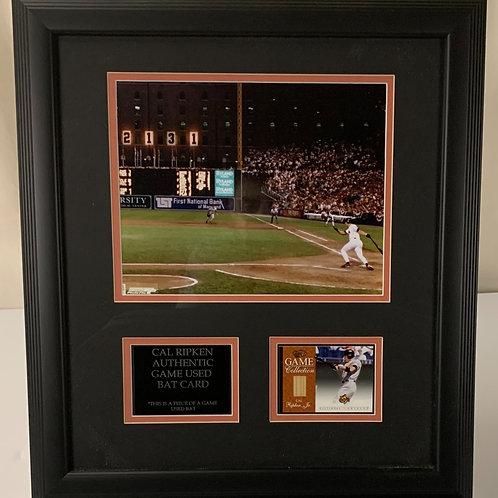 Baltimore Orioles Cal Ripken Jr. Game Used Bat Card