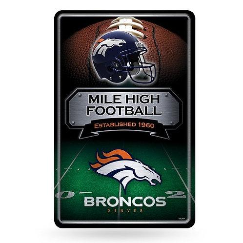 Denver Broncos Metal Sign