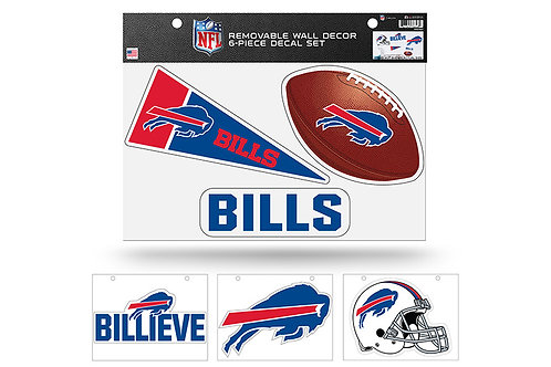 Buffalo Bills 6 pack Wall Decals