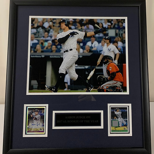 New York Yankees Aaron Judge Autograph & Game Used Jersey Card