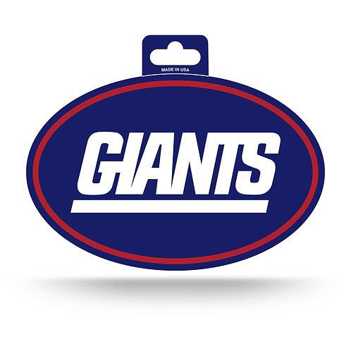 New York Giants Oval Sticker