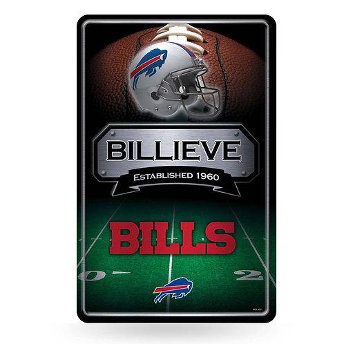 Buffalo Bills Metal Sign