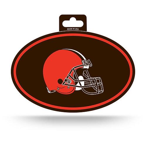 Cleveland Browns Oval Sticker