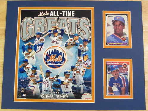 New York Mets All-Time Greats Matted Photo