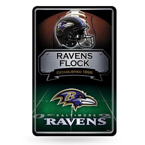Baltimore Ravens Metal Sign
