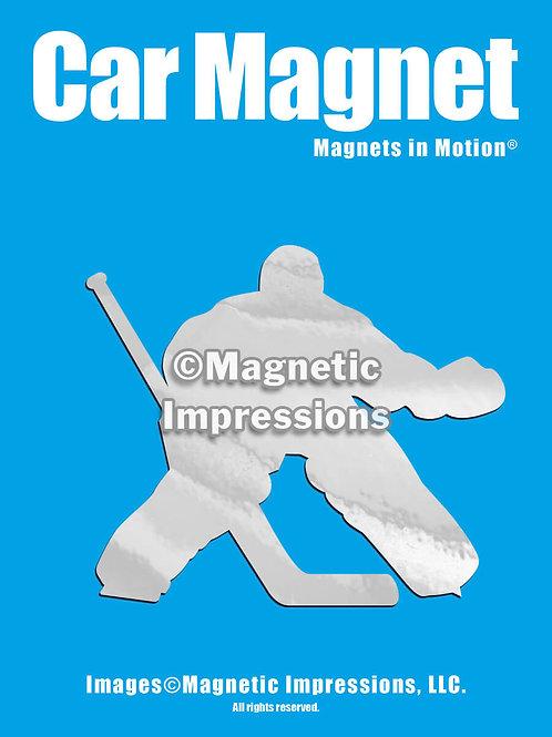 Hockey Goalie Magnet in Motion