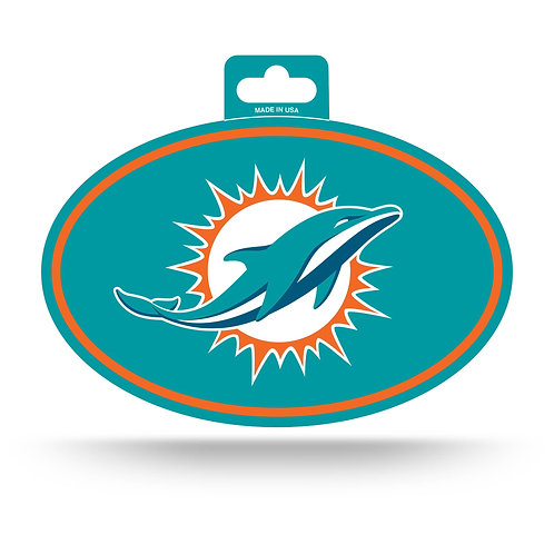 Miami Dolphins Oval Sticker