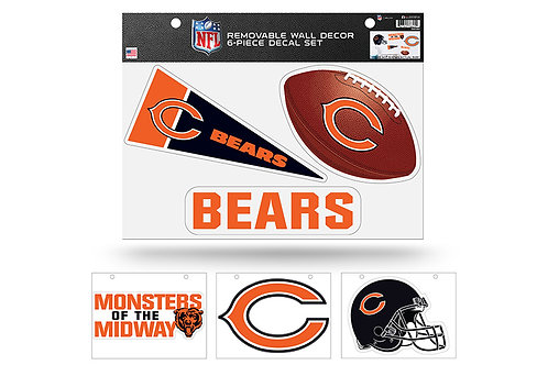 Chicago Bears 6 pack Wall Decals