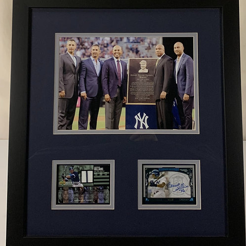 New York Yankees Bernie Williams Autograph & Game Used Jersey Cards