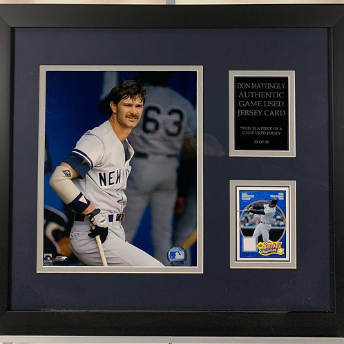 New York Yankees Don Mattingly Game Used Jersey Card