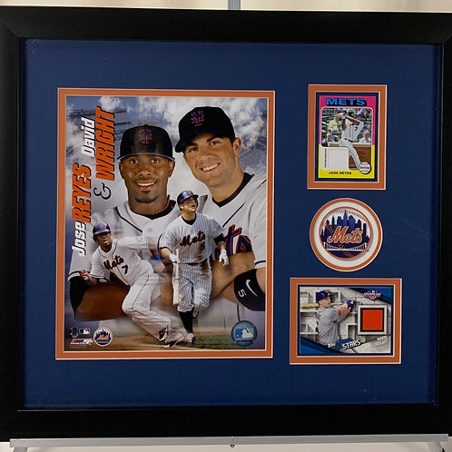 New York Mets Jose Reyes & David Wright Game Used Relic Jersey Cards