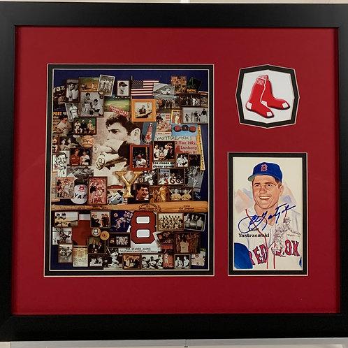 Boston Red Sox Carl Yastrzemski Autographed Perez Steel Card
