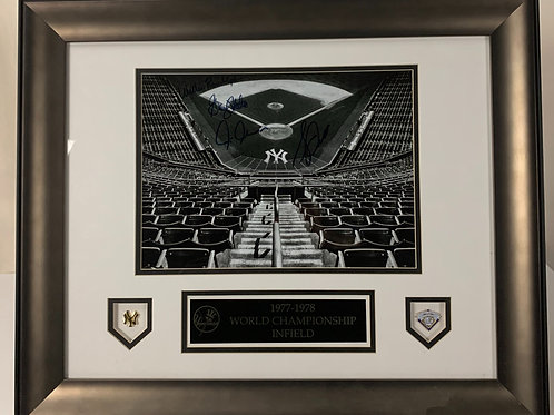 New York Yankees Autographed 1977-78 Championship Infield