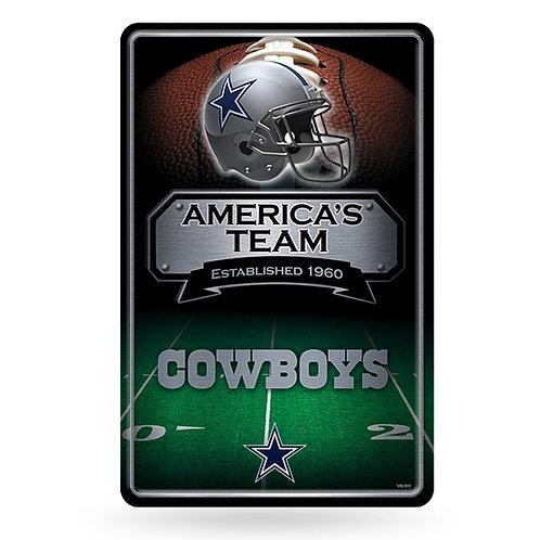 Dallas Cowboys Metal Sign