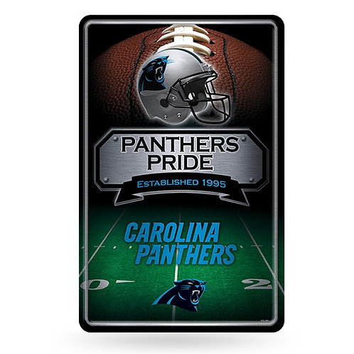 Carolina Panthers Metal Sign