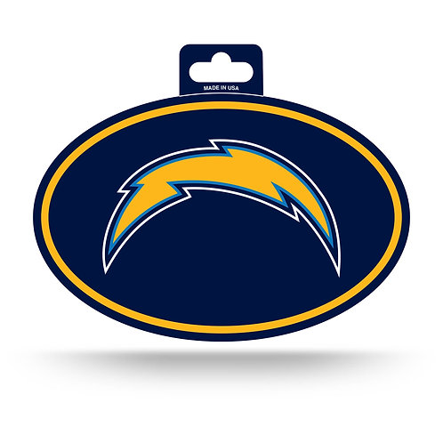 Los Angeles Chargers Oval Sticker