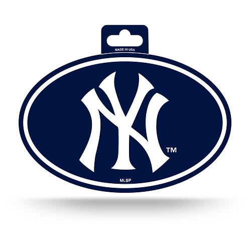 New York Yankees Oval Sticker