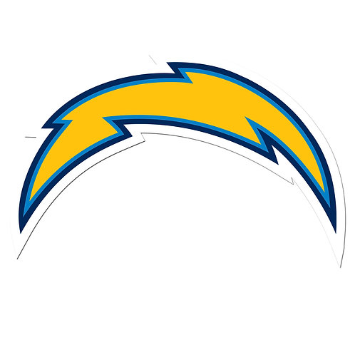 """Los Angeles Chargers 8"""" Auto Decal"""