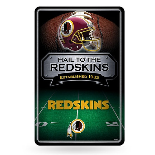 Washington Redskins Metal Sign