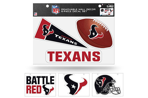 Houston Texans 6 pack Wall Decals