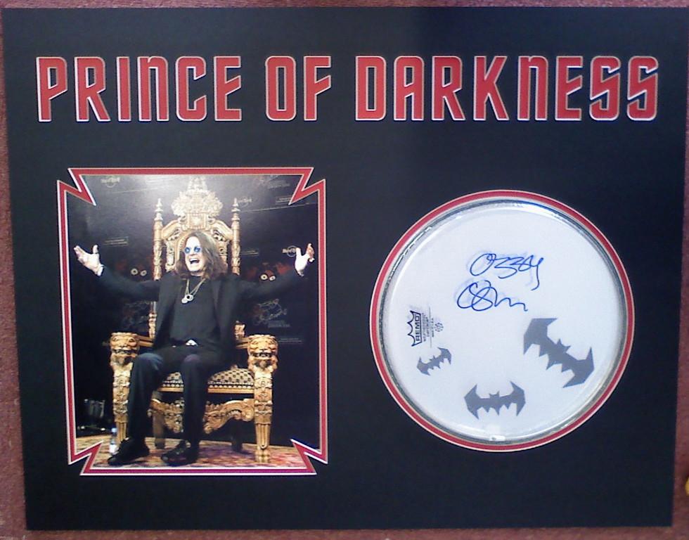 Custom Ozzy Osbourne Memorabilia
